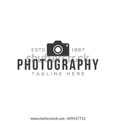 Vintage Photography Logo Design Template Stock Vector 609637712 ...