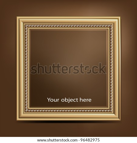 Vintage picture frame. Vector format EPS 10 - stock vector