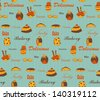 Vintage pies seamless background, EPS10 vector - stock vector