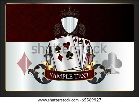 Vintage poker background - stock vector