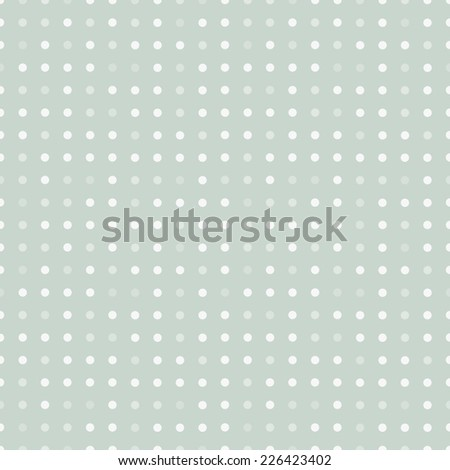 Vintage polka dots. Seamless Vector Background. - stock vector