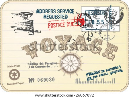 Vintage Postcard - stock vector