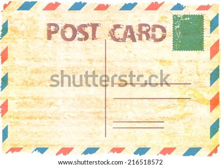 Vintage postcard. Vector illustration.  - stock vector