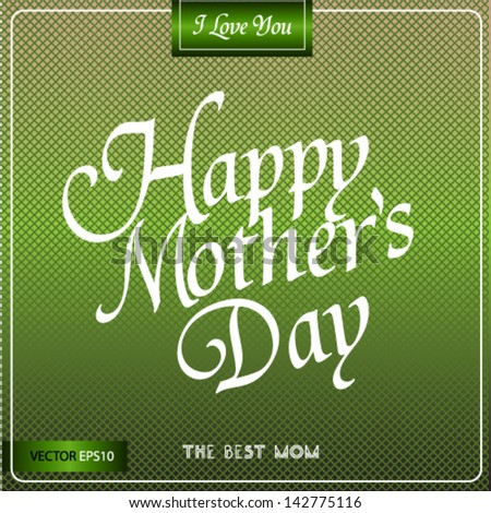 Vintage Poster Art - Happy Mothers Day - stock vector
