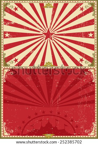 Vintage poster circus background. A circus vintage poster for your entertainment - stock vector