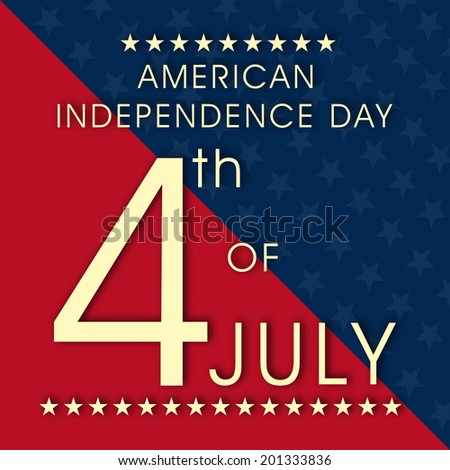 Vintage poster, flyer or banner design for 4th of July, American Independence Day celebrations.  - stock vector
