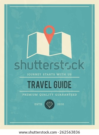 vintage poster for travel guide, vector illustration - stock vector