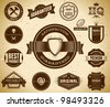 Vintage Premium Quality labels. Collection 7 - stock vector
