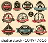 Vintage Premium quality labels - vector - stock vector