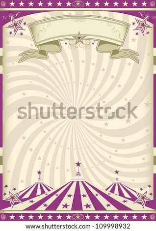 Vintage purple circus. a circus vintage poster for your advertising. - stock vector