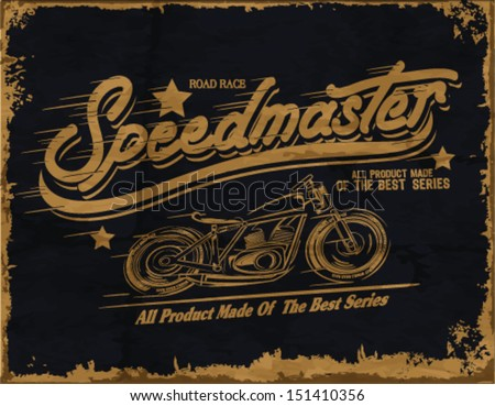 vintage race series for printing.vector old school race poster.retro race series set.helmet graphics printing - stock vector
