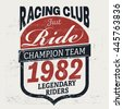 vintage racing club print for t ...