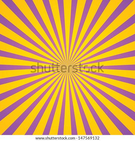 vintage rays star burst television vintage background - stock vector
