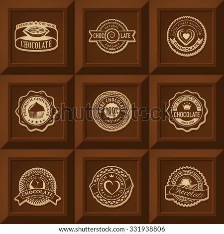 Chocolate label stock images royalty free images for Chocolate bar label template
