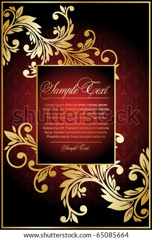 vintage red  background - stock vector