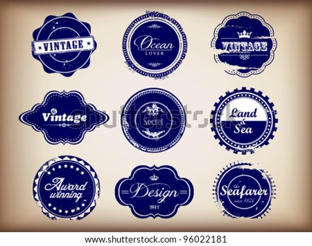 Vintage Retro Badges - stock vector