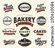 Vintage Retro Bakery Badges And Labels - stock vector
