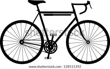 Vintage retro classic road / racing bike - stock vector