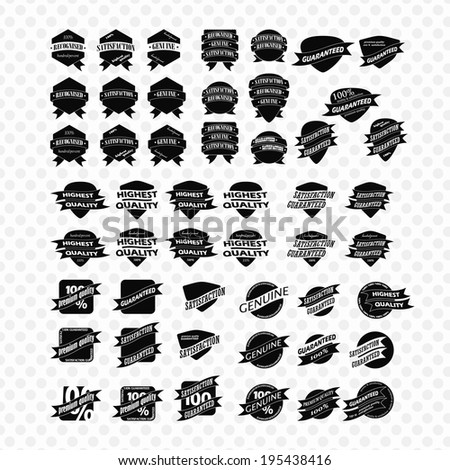 Vintage Retro Icons And Labels - stock vector