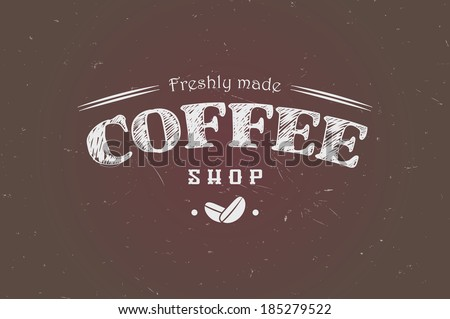 Vintage retro insignia, stamp, label, badge, coffee shop, vector illustration - stock vector