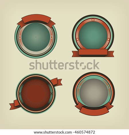 Vintage retro labels and tags - editable vector images with removable texture and place for your text. Vector design elements. - stock vector