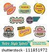 Vintage Retro Labels - editable vector images - stock photo