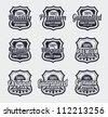 Vintage Retro Labels - vector illustrations - stock vector