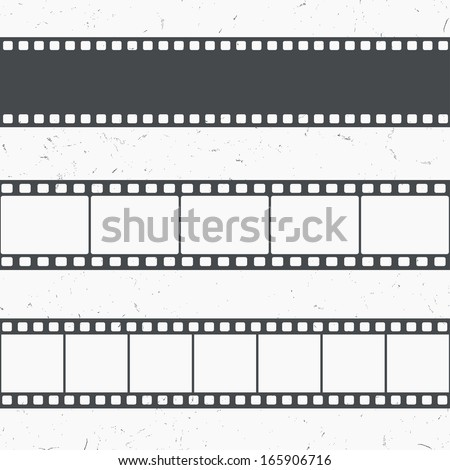 Vintage, retro looking vector film strip illustration  - stock vector