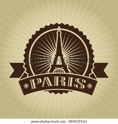 Vintage Retro Paris Seal