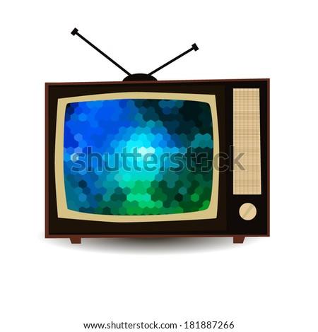 Vintage retro TV. vector  - stock vector