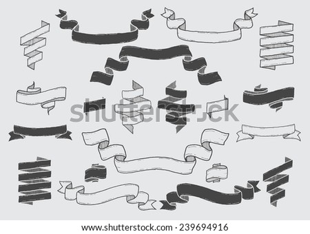 Vintage Ribbons - stock vector