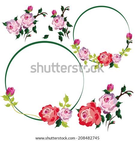 vintage rose flower vines frames borders stock vector hd royalty rh shutterstock com Baptism Borders Clip Art Black and White Clip Art