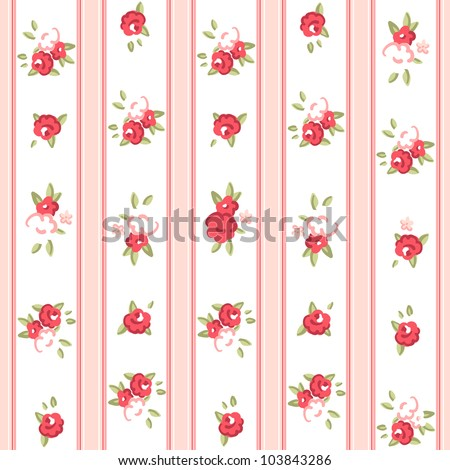 Vintage rose pattern. Seamless vector. Rose wallpaper - stock vector