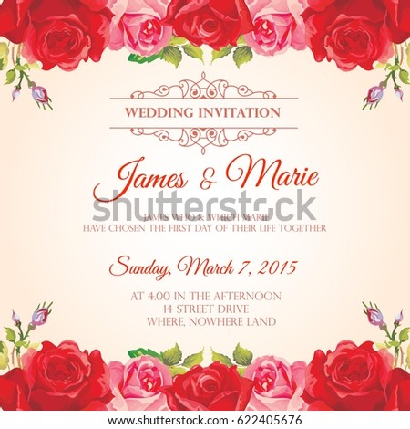 Wedding Invitation Template Images RoyaltyFree Images – Invitation Templete