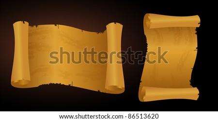 vintage scrolls - stock vector