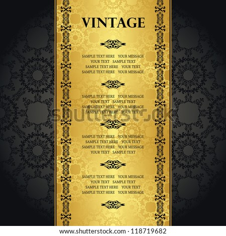 Vintage seamless background with space for text. Can be used as greeting card, invitation, menu and more - stock vector
