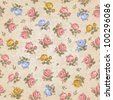 Vintage seamless floral pattern - stock photo