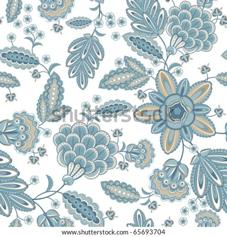 Vintage seamless floral pattern - stock vector
