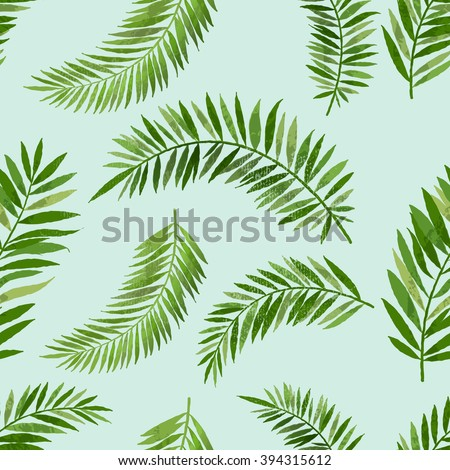 Vintage seamless palm leaf pattern. - stock vector