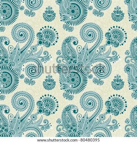 vintage seamless pattern - stock vector