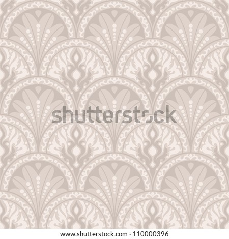 Vintage seamless pattern. EPS-8, endless floral ornament in vintage style. Original author's design, hand-drawn. - stock vector