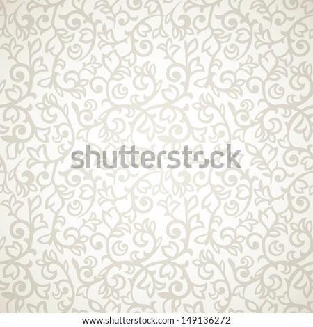 Vintage seamless pattern on beige background - stock vector