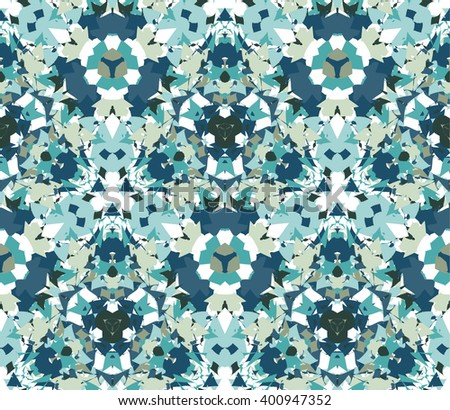 Vintage seamless pattern. Seamless pattern composed of color abstract elements located on white background. Useful as design element for texture, pattern and artistic compositions.Vector illustration. - stock vector