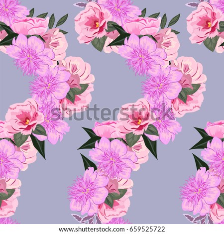 Vintage seamless pattern cute pink flowers stock vector 659525722 vintage seamless pattern with cute pink flowers hand drawn floral background for textile mightylinksfo