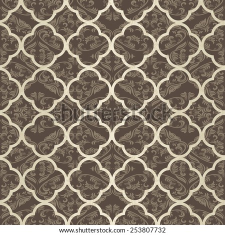 vintage seamless victorian pattern - stock vector