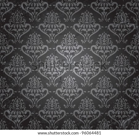 vintage seamless wallpaper in grunge style. EPS 8 vector illustration - stock vector
