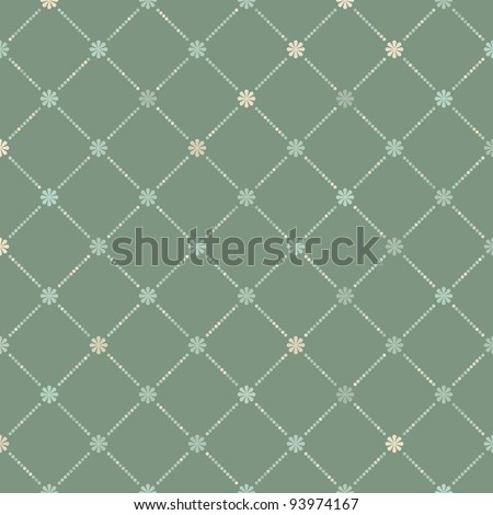 Vintage seamless with dots. EPS 8 vector file included - stock vector