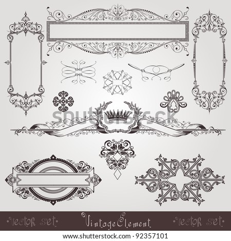 vintage set element - stock vector