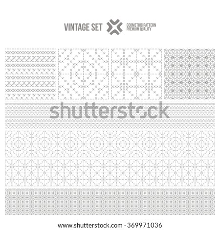 Vintage set - Seamless patterns, Ethnic boho seamless pattern