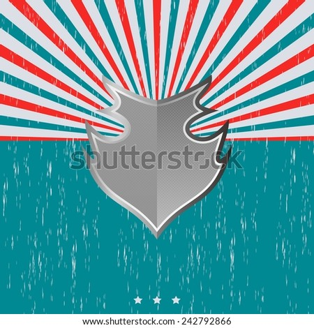 vintage shield theme template - stock vector